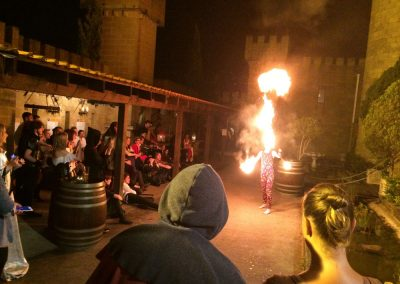 Courtyard Fire show