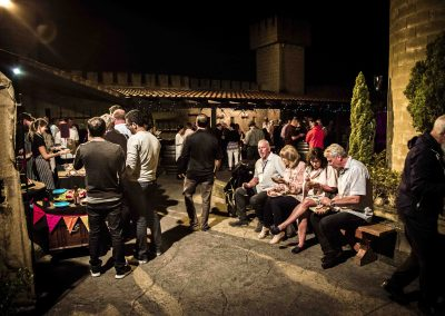 Night Event in the Castle Courtyard