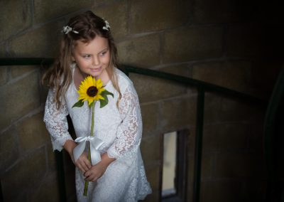 Flower girls in the tower
