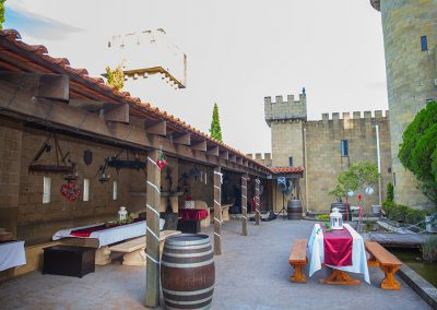 Wedding courtyard castle setup