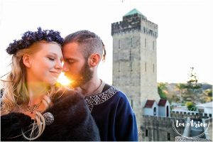 Castle themed wedding picture