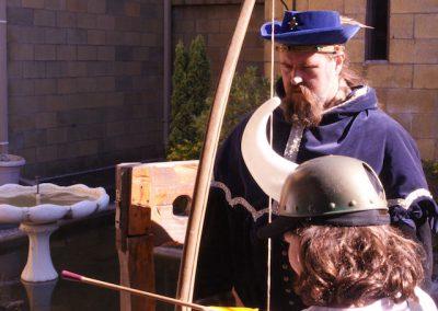 Archery with Sir Justyn