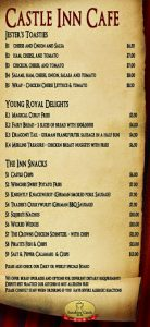 castle cafe menu