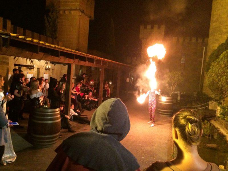 Courtyard Fire show