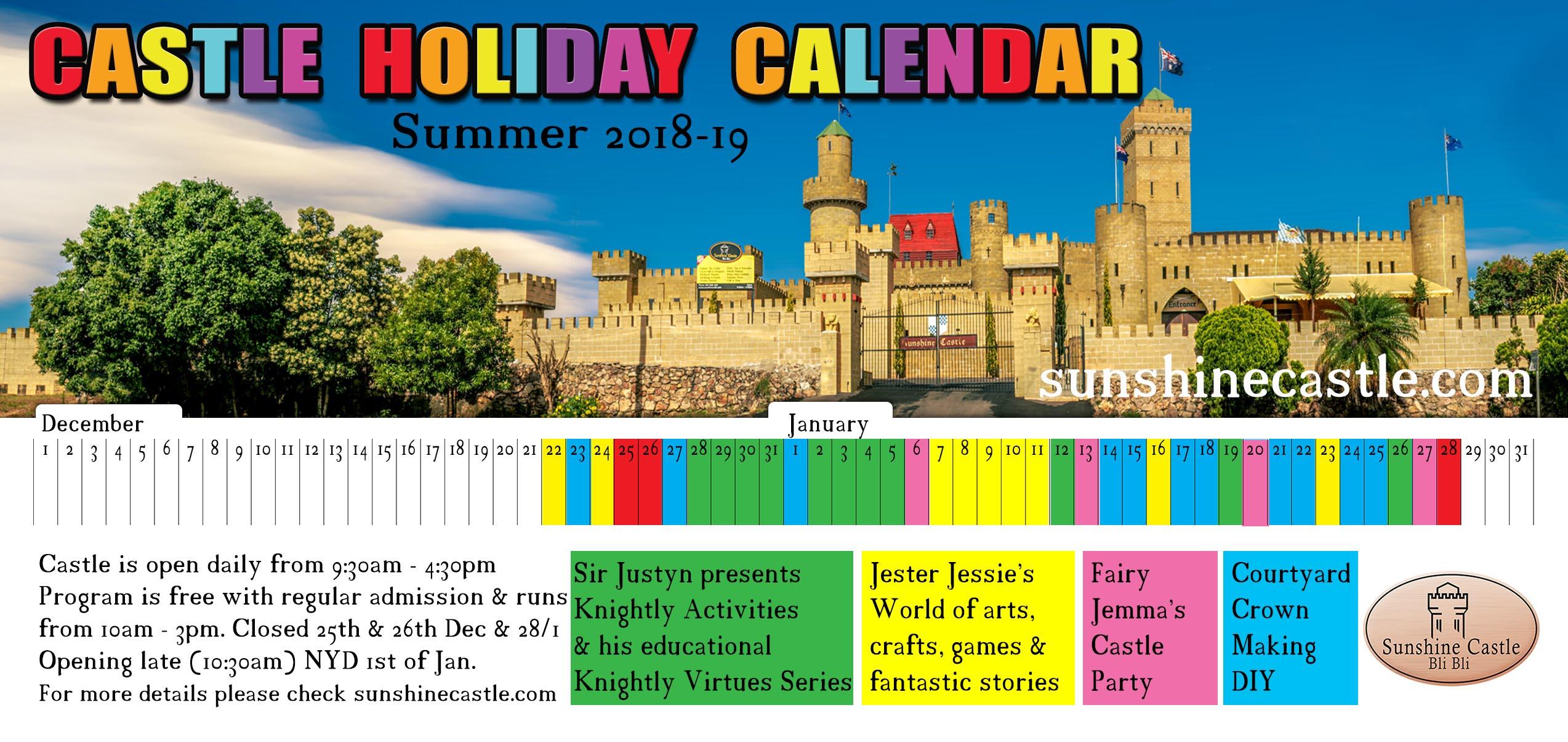 Holiday Program Calender